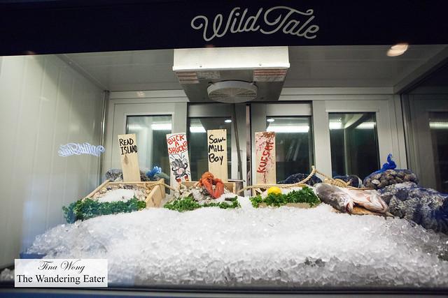 Seafood holding area
