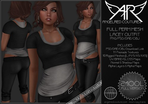 //NEW// AngelRED - FULL PERM MESH Lacey Outfit | by AngelRED Couture™