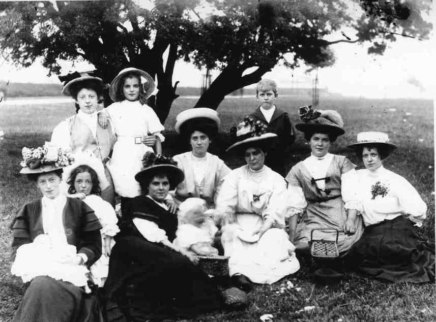 Group of ladies circa 1900 (archive ref DDX1319-1-10)