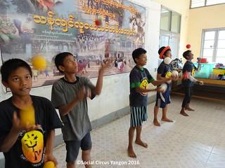 Thanlyin Boys circus jugglers presentation