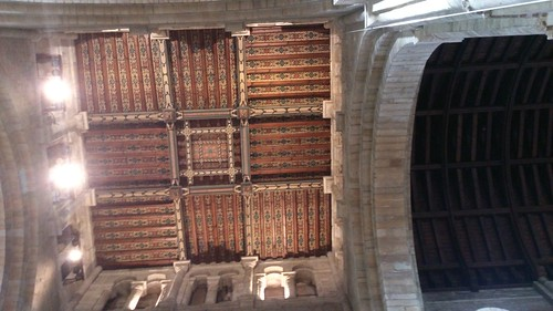 Ceiling, Romsey Abbey SWC Walk 58 Mottisfont and Dunbridge to Romsey