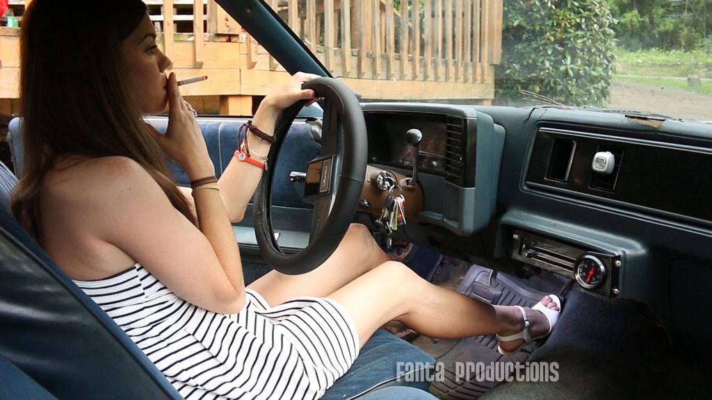 Kristen Pedal Pumping In High Heels Smoking Fanta Productions