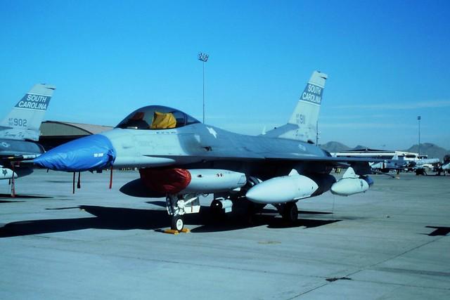 F-16C 92-3911 157FS/169FG South-Carolina ANG. Nellis AFB, Nevada. (During