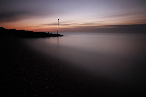 longexposure sea seascape beach sunrise kent hythe