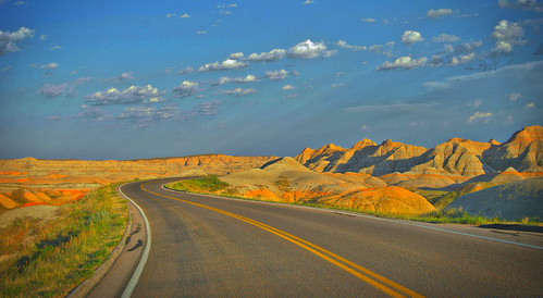 Badlands (SD) Highway 2008   by Ron Cogswell