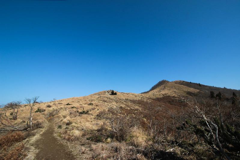 武奈ヶ岳の稜線