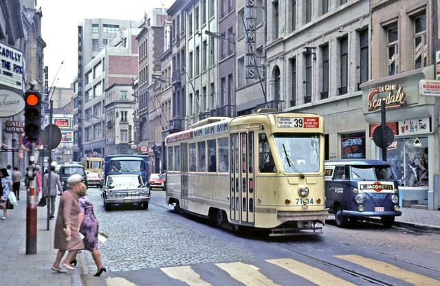 STIB Brussels: PCC Car 7134 on Route 39