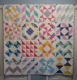 Layer Cake Quilt Done!!!  Finally!!  I finally quilted/bound this 1-14-16!!