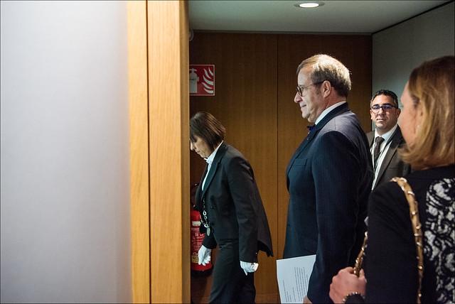Toomas Hendrik Ilves, President of Estonia, arriving in plenary