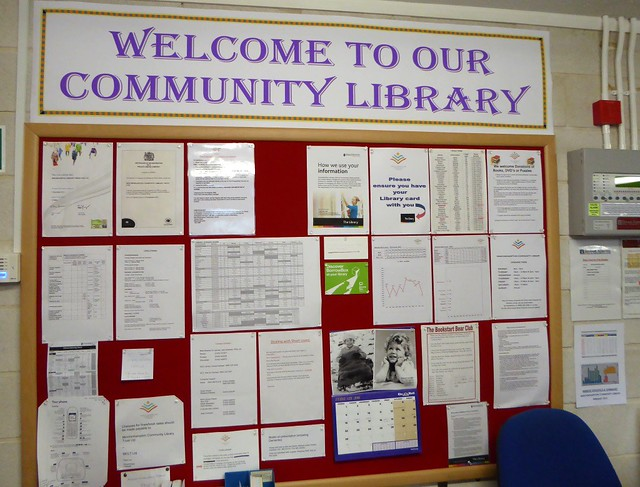Minchinhampton community library noticeboard