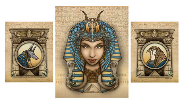 Egyptian Art Series by Sherrie Thai