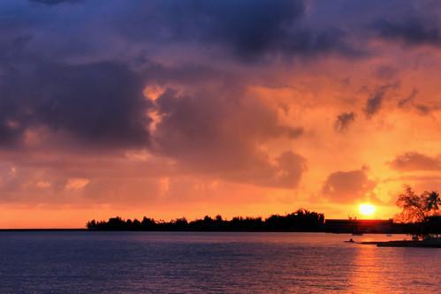 sunrise island dawn hawaii big coconut hilo