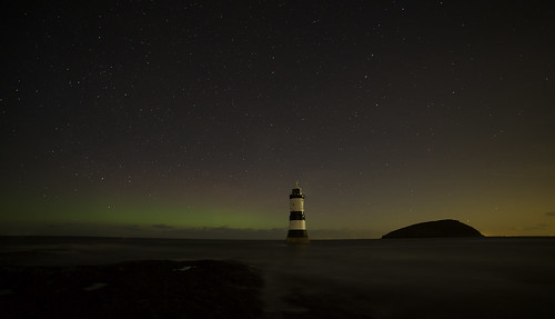 Midnight at Penmon Point, Angelsey.
