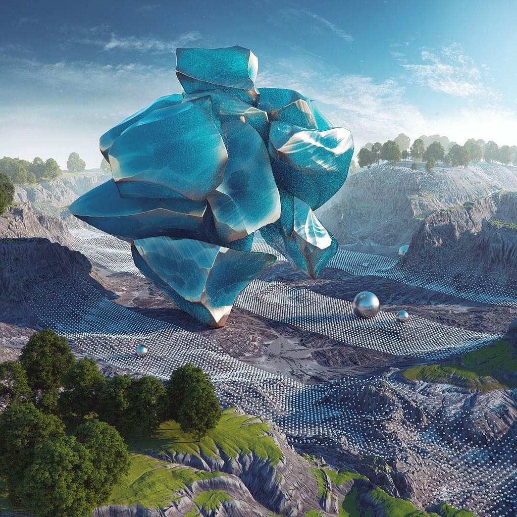 crystallized #cinema #4d #c4d #cinema4d #octane #render