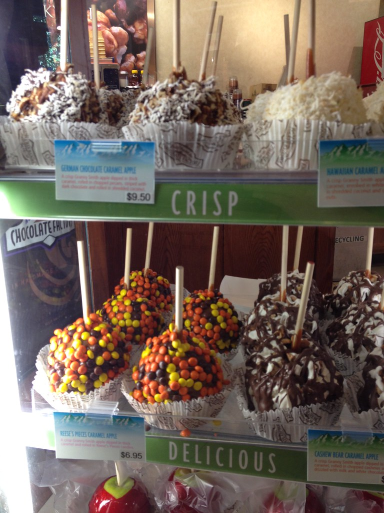 Just look at those candy chocolate apples, Seattle