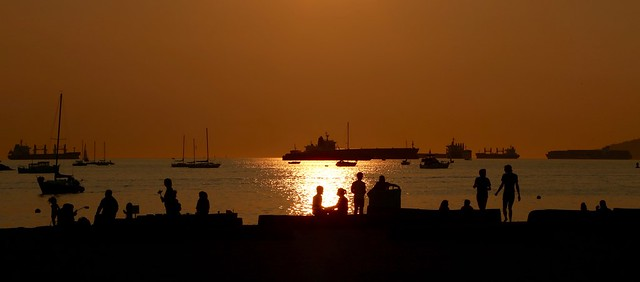 Romantics Magical Sunset Sunset Beach Vancouver Canada