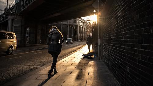 streetphotography fujix sunset ireland street city faceless homeless fujifilm light life sun man contrast woman candid x70 backlight photography dublin fujix70 photo europe urban fuji ie onsale portfolio