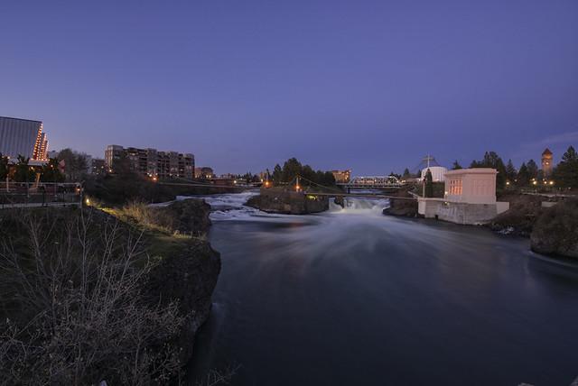 Spokane Falls Twilight