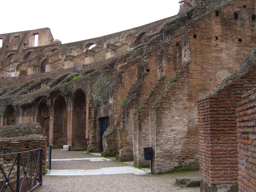 the Colosseum walkways