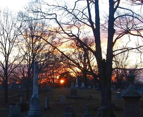 sunset cemetery graveyard dusk woodlawn flickrsbest ultimateshot