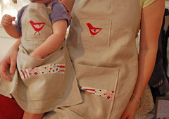 mama and baby bird apron | by SouleMama