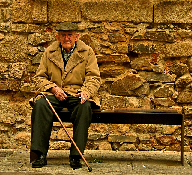 old man in the old city