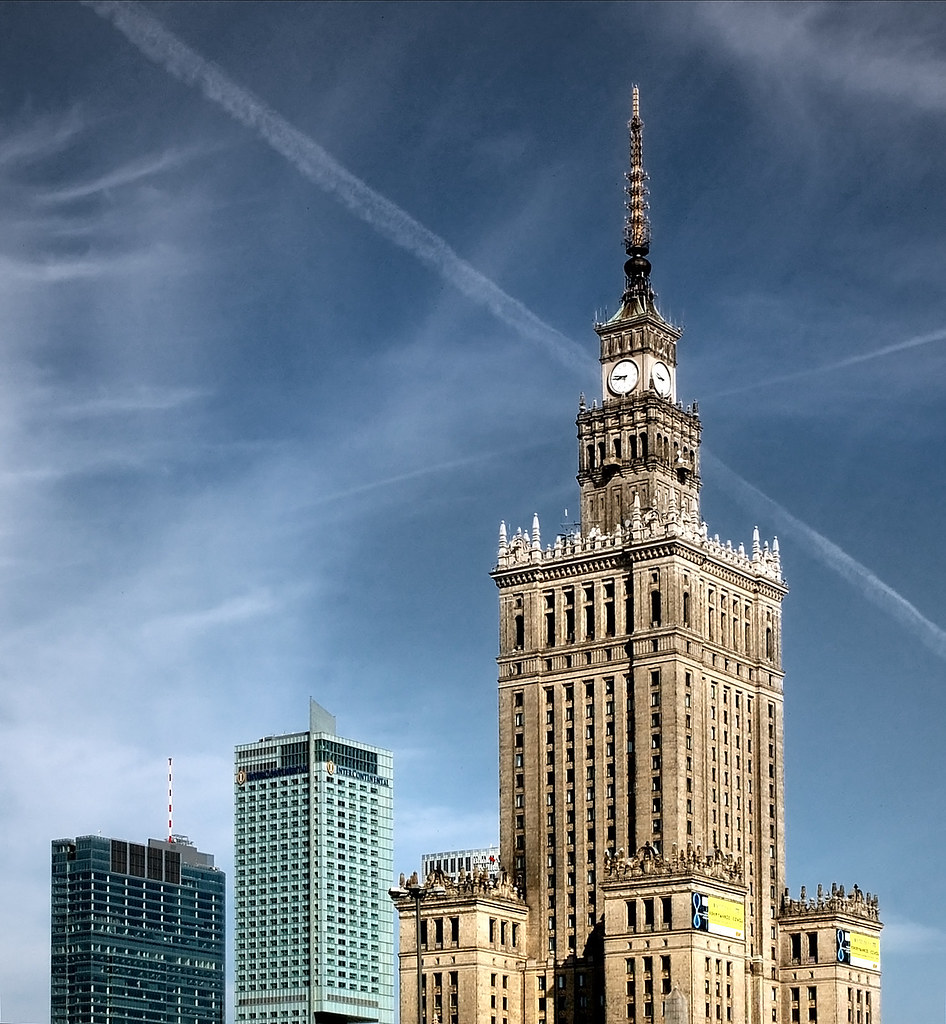 Three Towers   Central Warsaw  Third building is the Palace