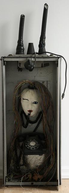 Cool Creepy Art in The Gorey's Mud Room