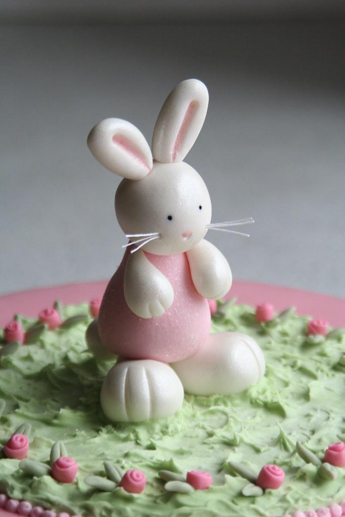 Bunny Birthday Cake Detail