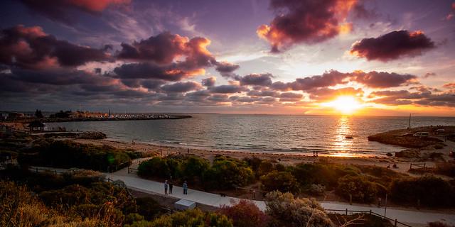 Cloudy sunset over Freo. Fremantle, Western Australia. (Explore)