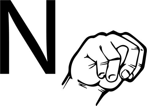 asl-sign-language-letter-n- | by devon_columbus