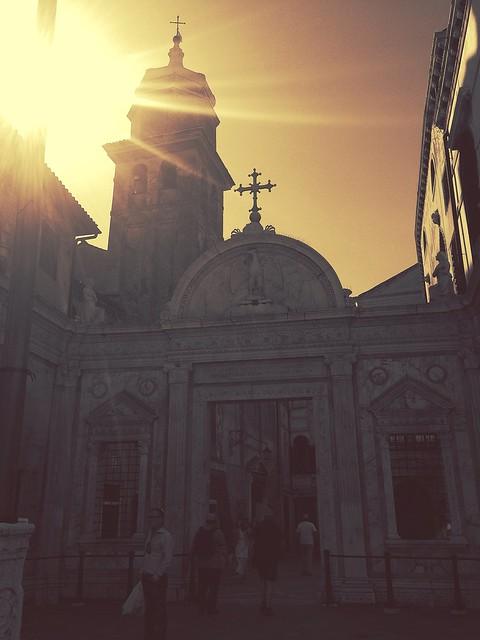 Sunshine at Venice church