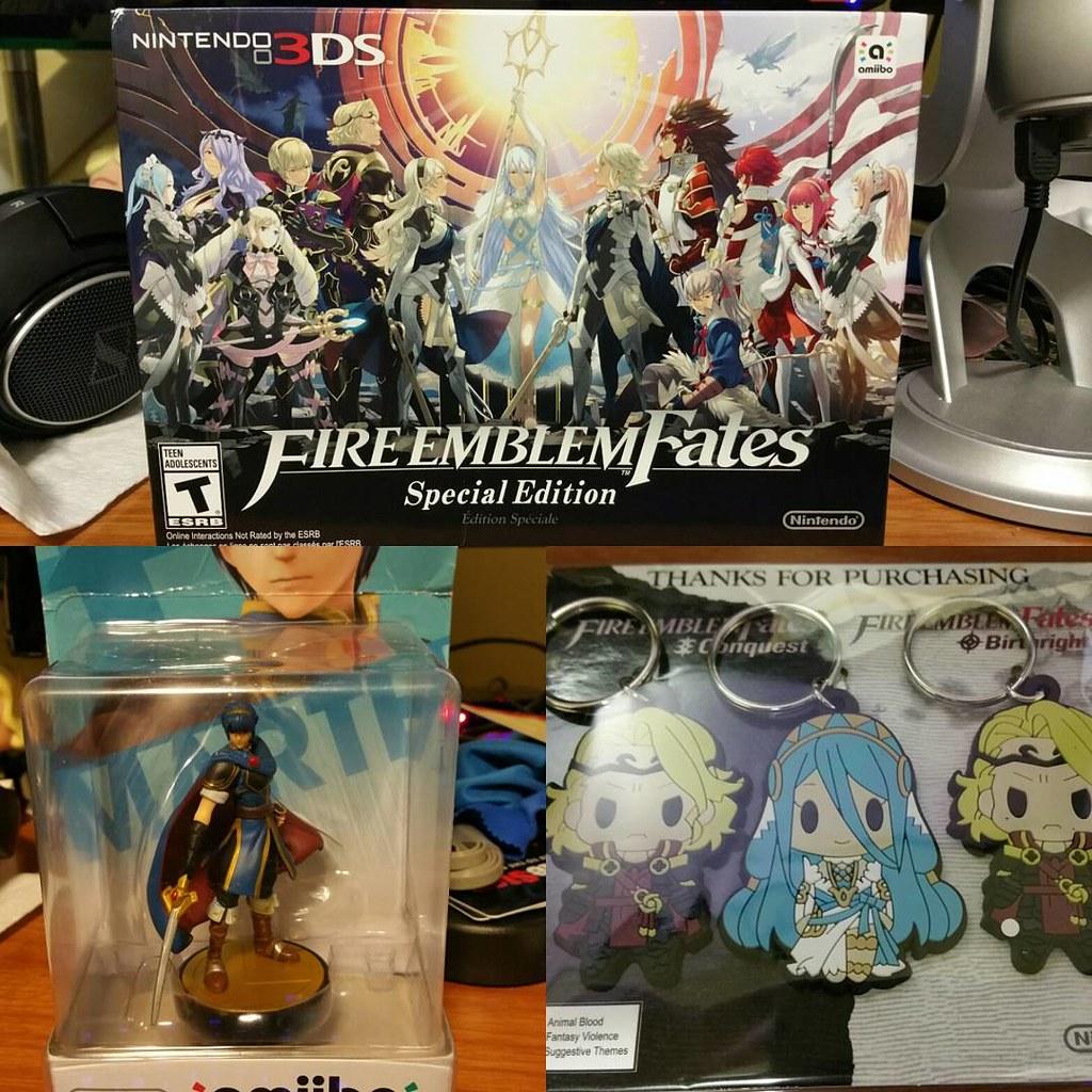 Got my Fire Emblem Fates SE, Marth Amiibo, and special key