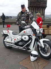 Biker soldier from The Royal Regiment of Scotland