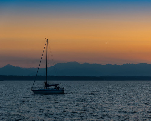 goldengardens beach boats clouds skies sun briburt nikon d50 18200 pugetsound olympicmountains boat sail sailboat mountains horizon sunset silhouette amazing stunning view nature sky landscape peaceful tranquil zen