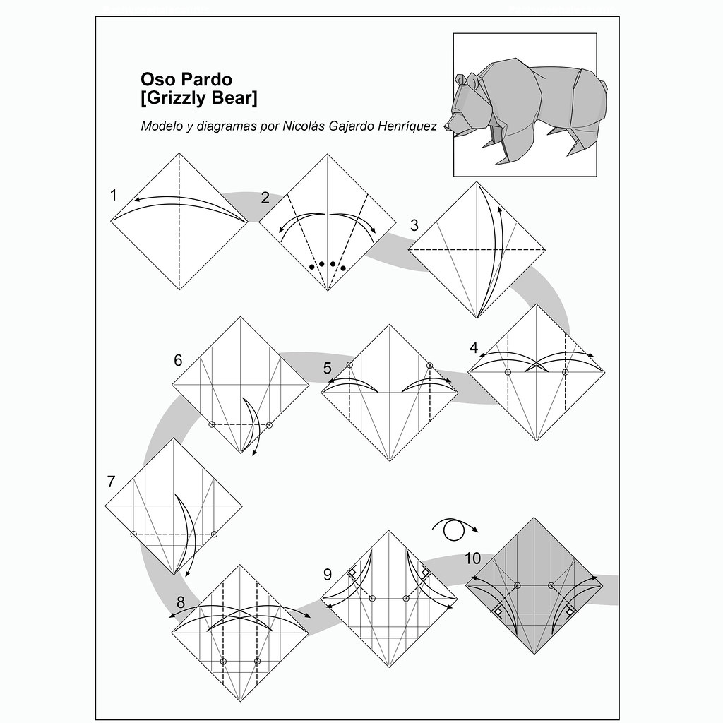 Terrific Origami Grizzly Bear Diagram Designed And Drew By Nicolas Flickr Wiring 101 Olytiaxxcnl