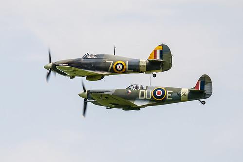 Spitfire and Sea Hurricane | by Mooshie1956