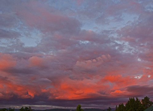 clouds red reflections sky oregon rainieroregon sunset