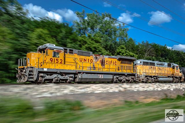 Westbound UP Manifest Train at Iatan, MO