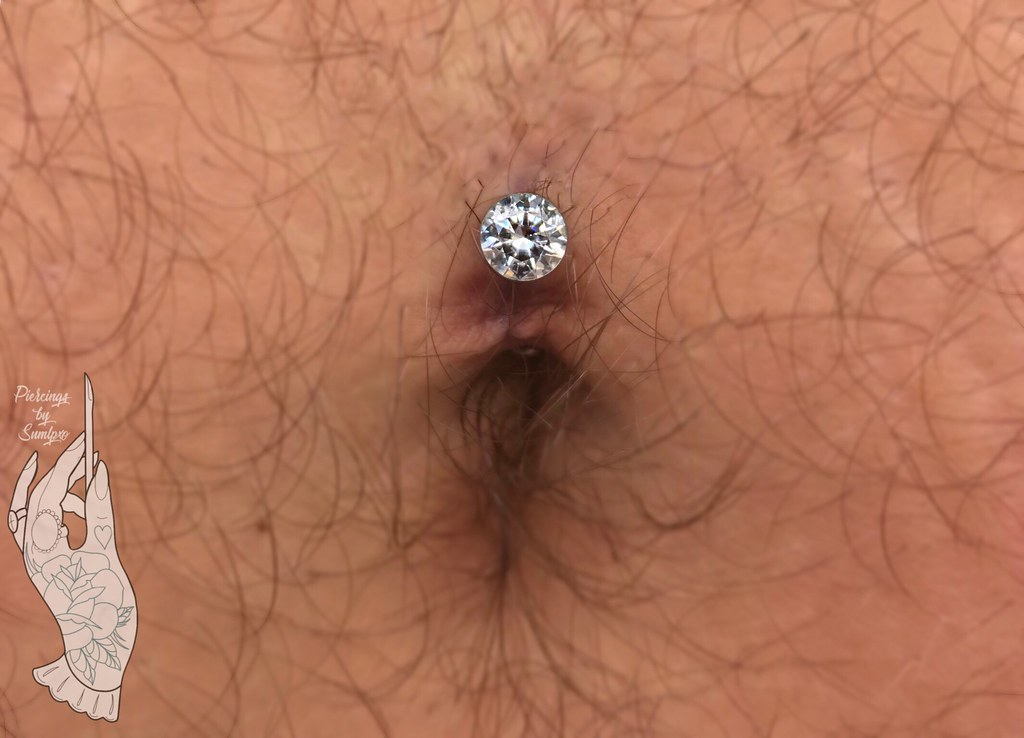 A Fresh Floating Navel Piercing With Jewelry Components Flickr
