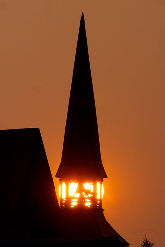church sunrise rossland
