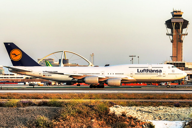 Lufthansa Boeing 747-8i at LAX (D-ABYG)