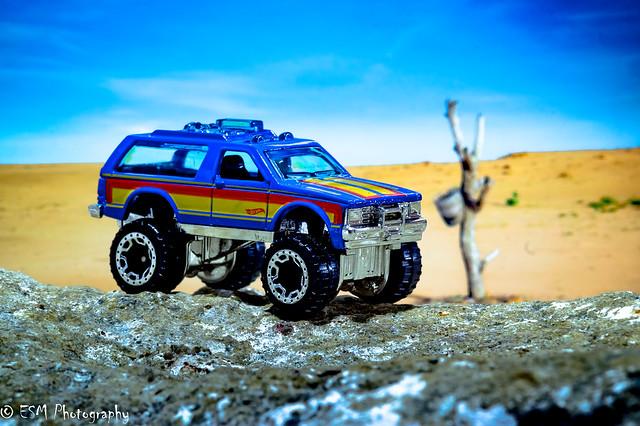 A Hot Wheels in the desert.