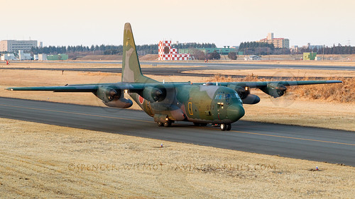 jasdf japan c130 hercules quad prop militaryaviation combataircraft aircraft aviation airplane airport apron lockheed departure camo sunset iruma airbase cargo transporter heavy plane ramp taxiway