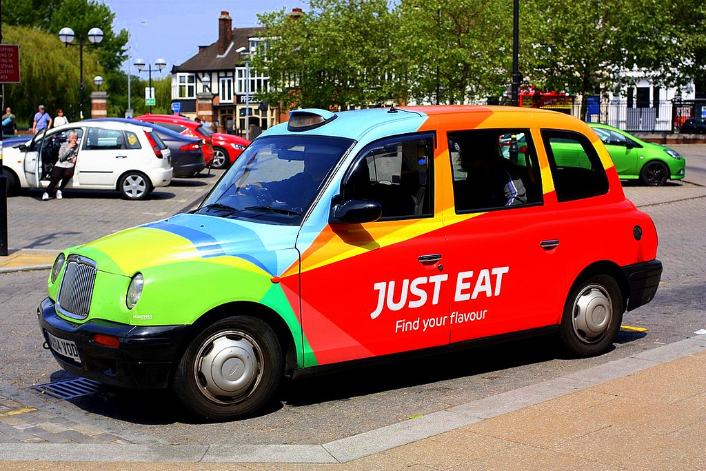 Taxi Very Colourful Taxi On The Rank At Norwich Chris