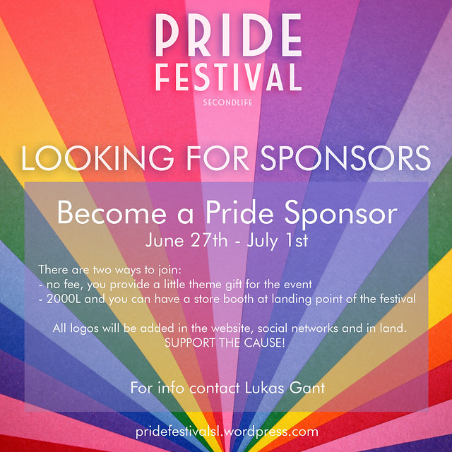 PRIDE FESTIVAL is looking for sponsors <3