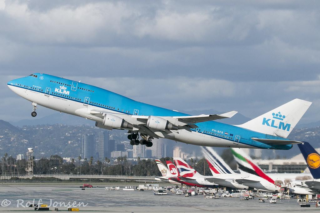 PH-BFR Boeing 747-400 KLM Los Angeles airport KLAX 23 01-1