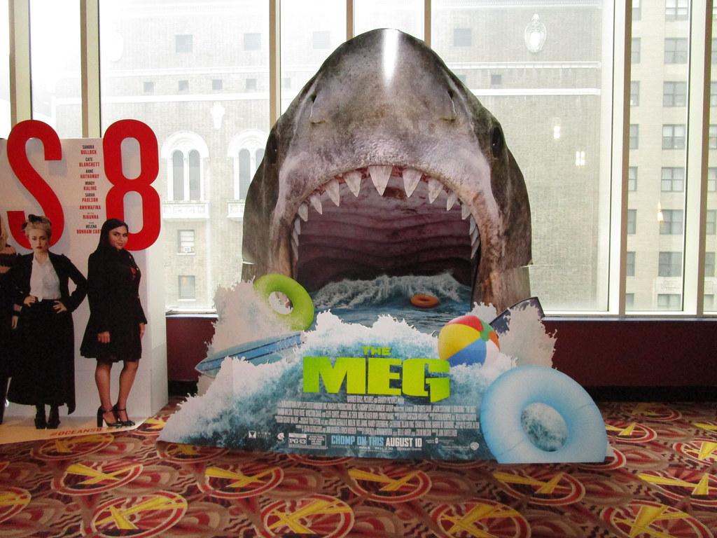The Meg 2018 film Theater Shark Standee NYC 3201 | The Meg 2…