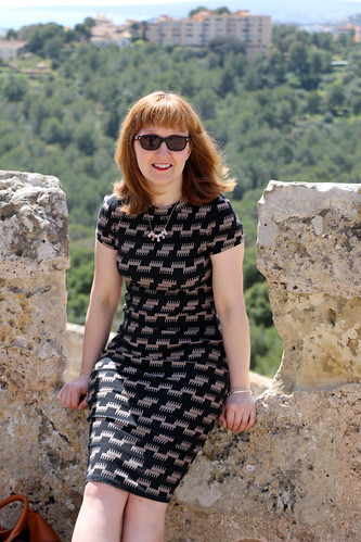 Capital Chic Patterns Sangria Dress   by English Girl at Home