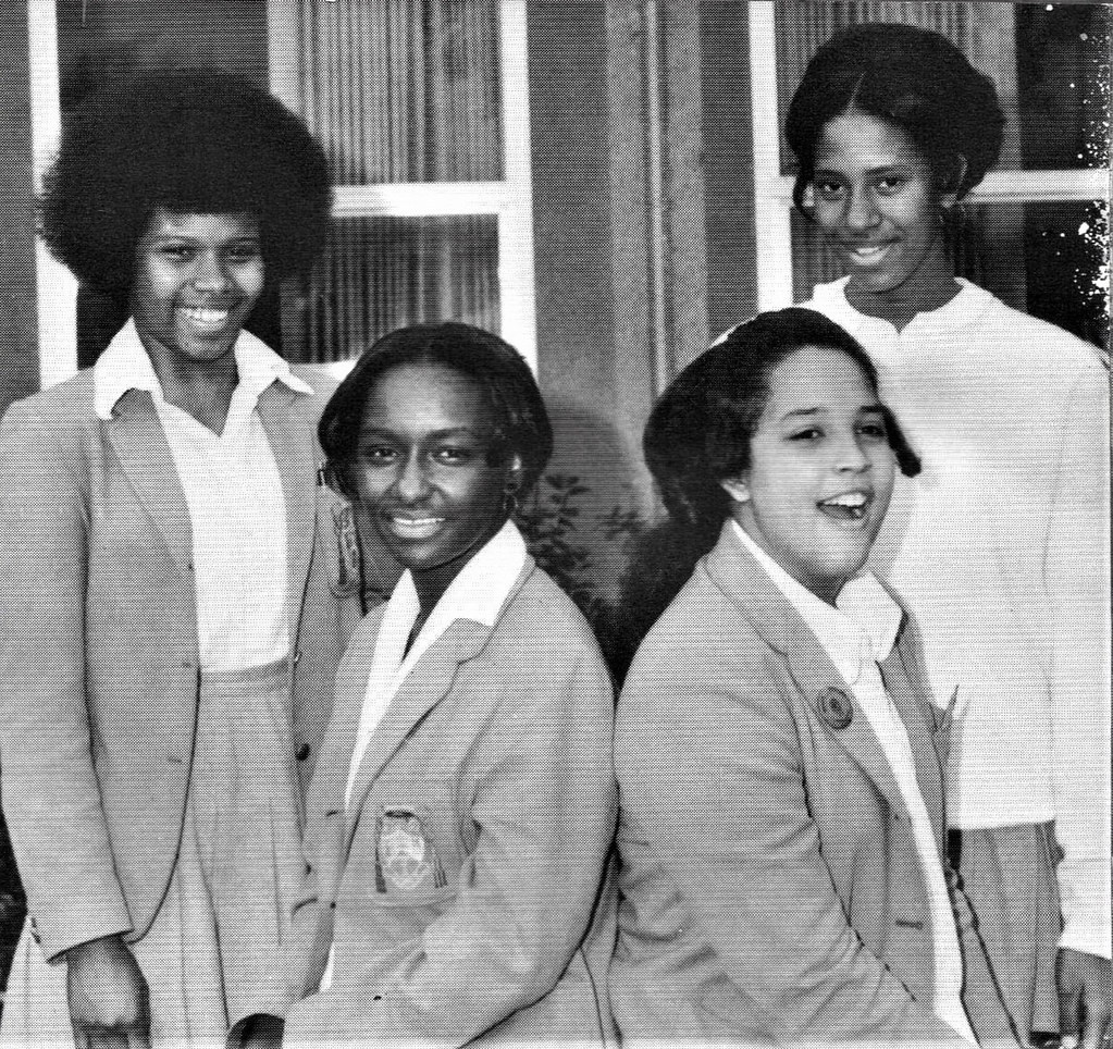 Students at Bishop Manogue High School 1971 Sacramento, CA